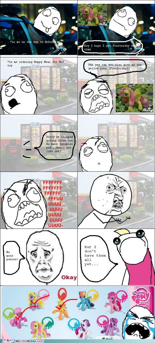fluttershy girls-toy McDonald's rage comic Rage Comics - 6053410816