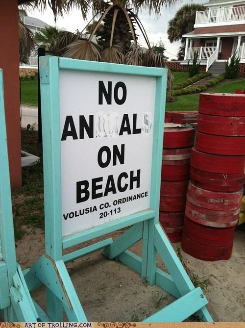 beach buttsecks IRL sign - 6053726464