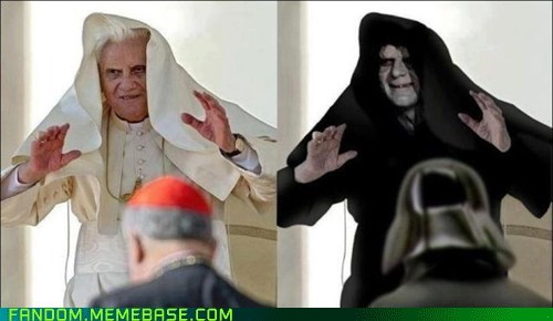 fandom,It Came From the Interwebz,look alike,pope,scifi,star wars