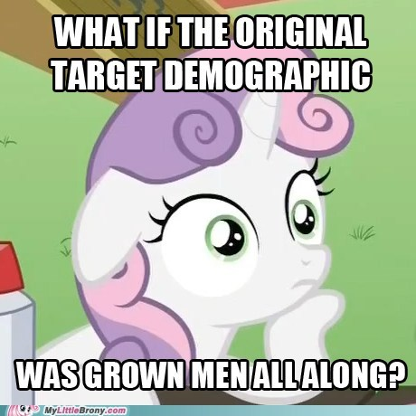 Bronies demographic meme sudden realization sweetie belle Sweetie Belle - 6053805312
