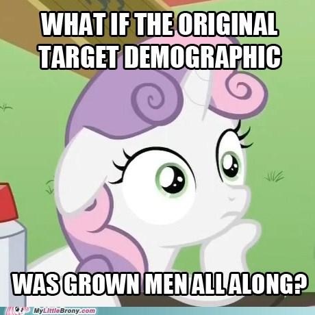 Bronies demographic meme sudden realization sweetie belle Sweetie Belle - 6053805312