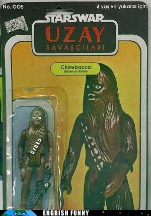 chewbacca chewy engrish funny g rated star wars Turkey turkish - 6055129600