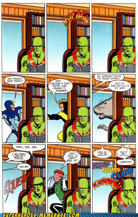 Awesome Art blue beetle JLI martian manhunter - 6055183360