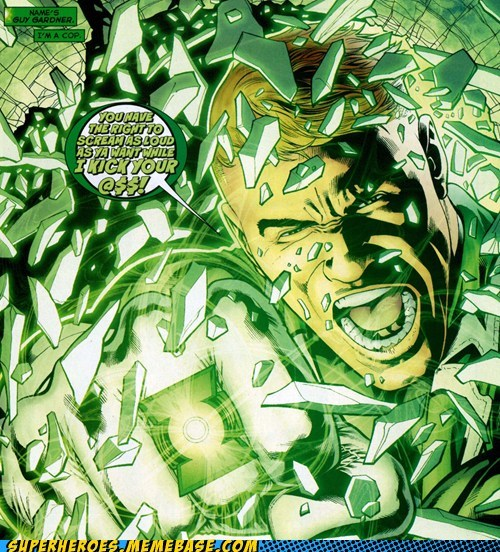 Green lantern guy gardener Straight off the Page - 6055718912