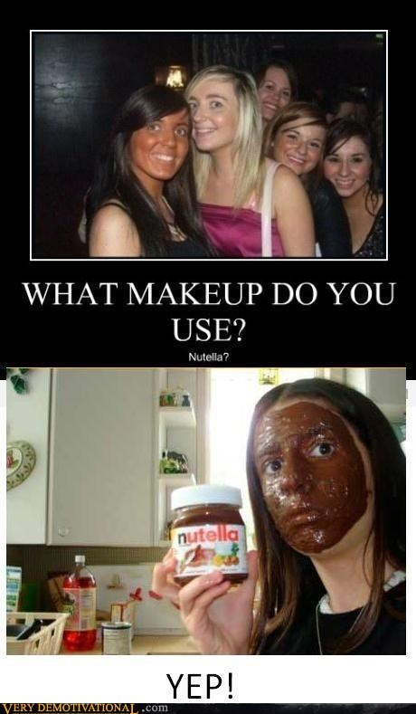 eww,hilarious,makeup,nutella,orange
