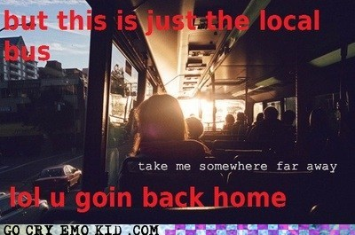 hipster photography,hipsterlulz,run away,school bus