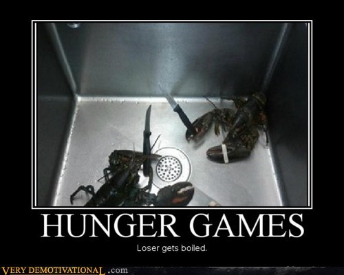 hilarious,hunger games,knives,lobster