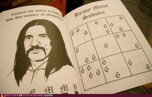 best of week metal Motörhead sudoku weird kid - 6056936192