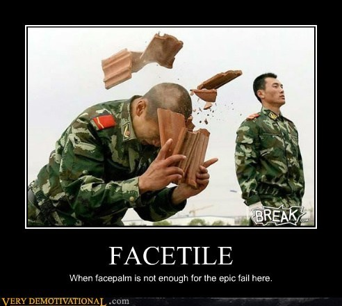 FACETILE When facepalm is not enough for the epic fail here.