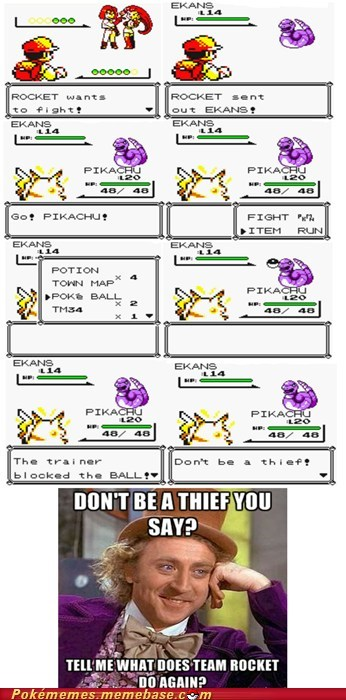 logic Memes Pokémon stealing Team Rocket - 6059226624