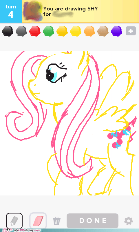 App,draw something,fluttershy,games,IRL