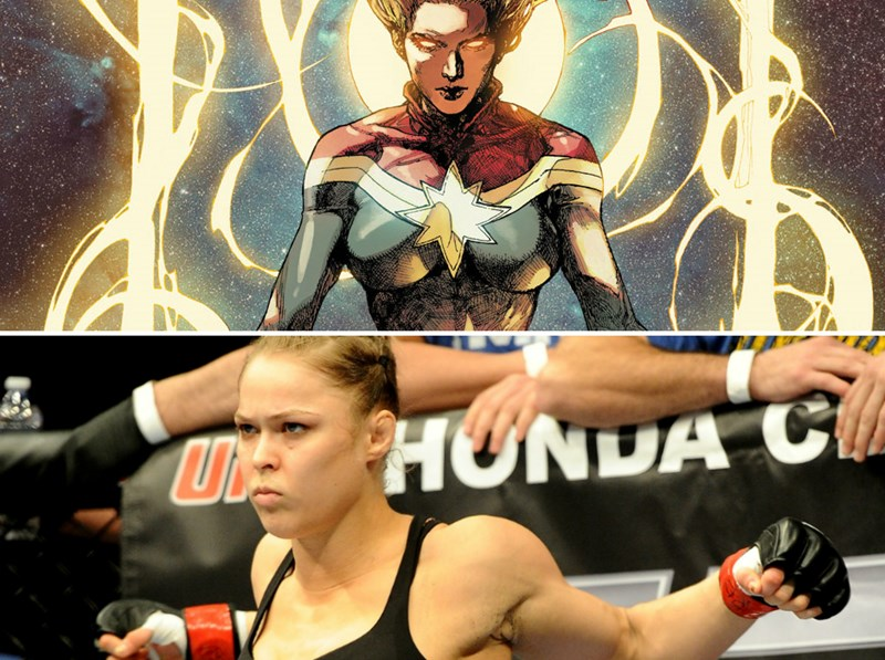 instagram,photoshop,captain marvel,ronda rousey