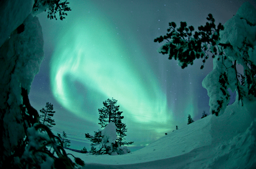 aurora borealis,Finland,Hall of Fame,snow