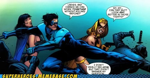 huntress,murder,nightwing,Straight off the Page,wtf