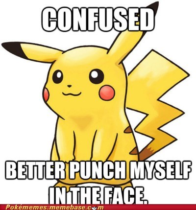 annoying,confuse ray,confusion,meme,Memes,pikachu,punch