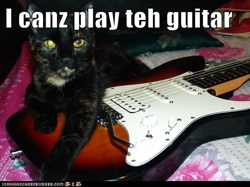 I canz play teh guitar