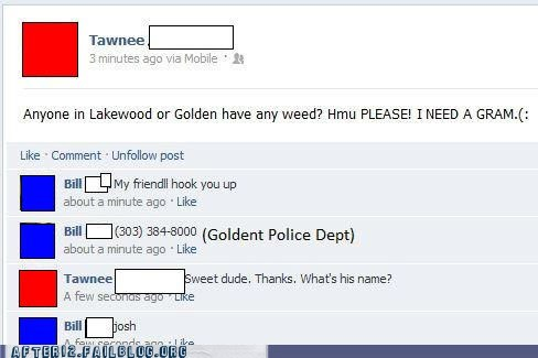 dealer drugs facebook troll weed