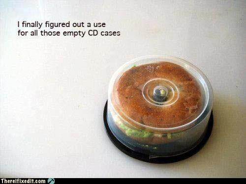 bagel,CD,cd case