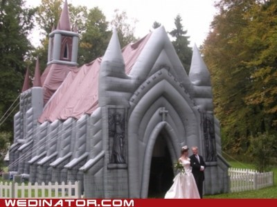 bouncy castle children funny wedding photos Inflatable Castle play wedding