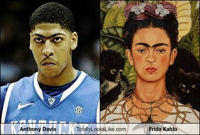 anthony davis,frida kahlo,funny,TLL