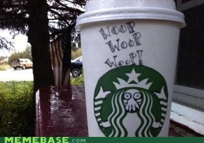 IRL,Starbucks,win,woop,Zoidberg