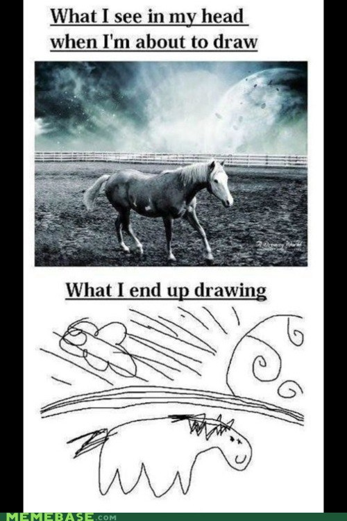 draw horse How People View Me in my head - 6061336576