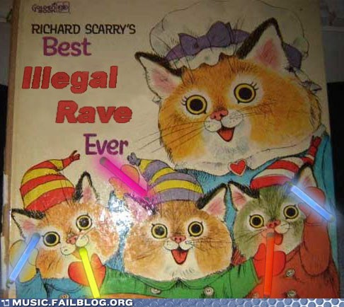 cat,childrens book,glow sticks,parenting,rave,richard scarry