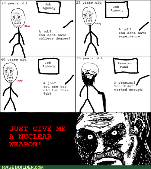 all that racket,are you kidding me,job,Okay,Rage Comics
