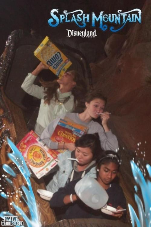 candid,cereal,disneyland,splash mountain