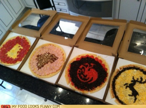 Game of Thrones,houses,pizza,sigils,symbols