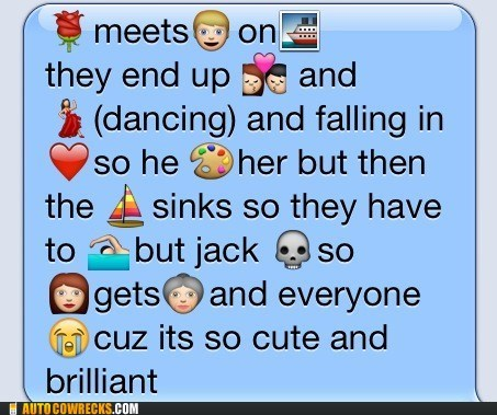 AutocoWrecks emoticons g rated iphone movies titanic - 6061771520