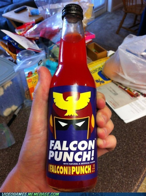 falcon punch,fruit punch,IRL,super smash bros