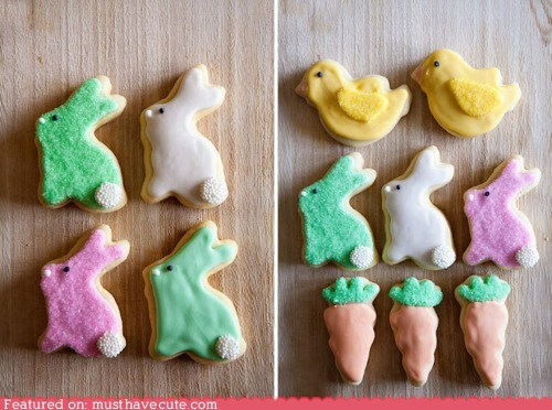 bunnies carrots chicks cookies epicute icing - 6061791488