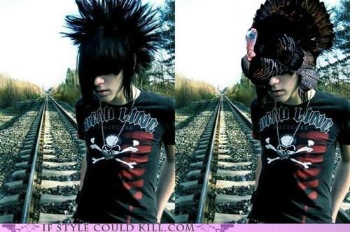emo hair stupid Turkey - 6061806848
