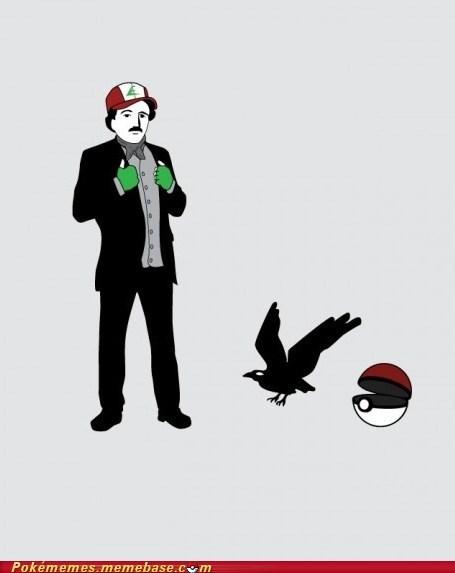 crossover,edgar allen poe,poekemon,raven