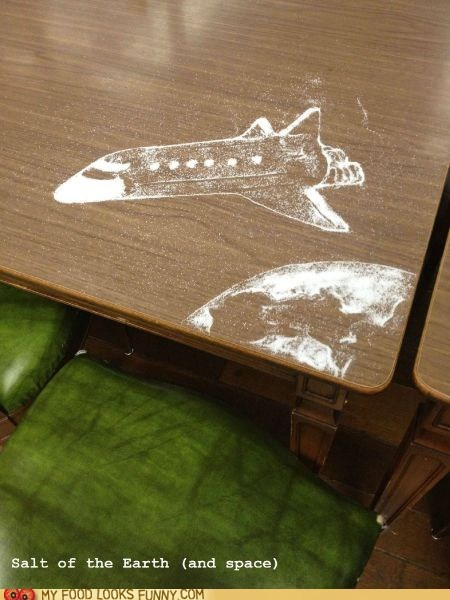 art,salt,spill,table