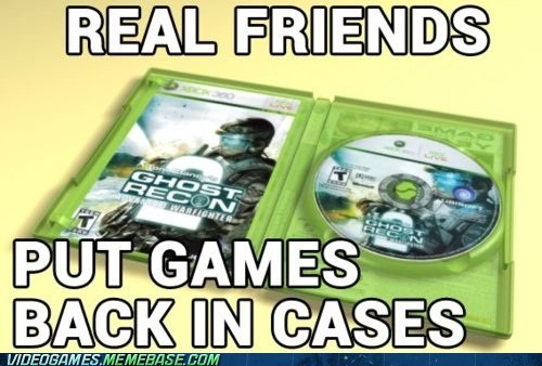 back in its case game discs ghost recon real friends the internets - 6061906944