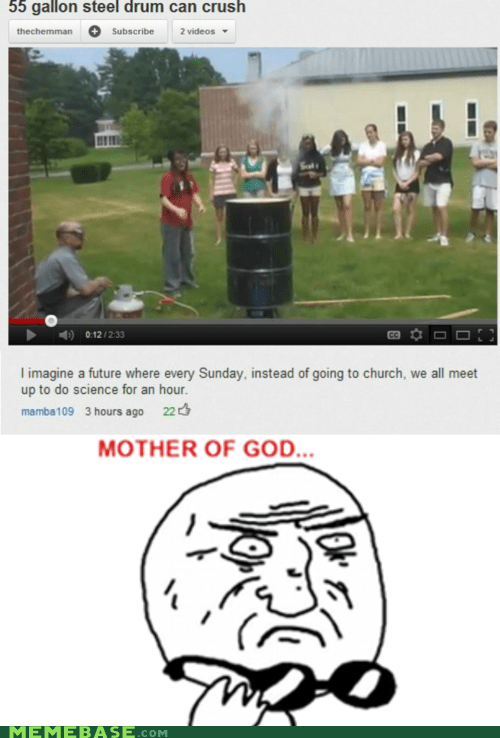 church future mother of god Rage Comics religion science sunday youtube - 6061990912