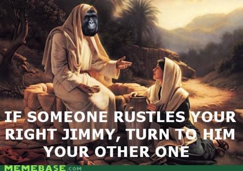 gorilla,jesus,jimmies,Memes,religion,rustle