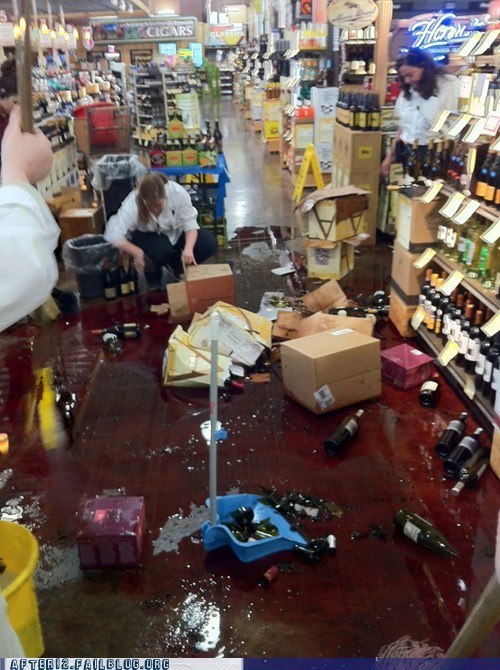 accident mess NOOO spill whoops wine