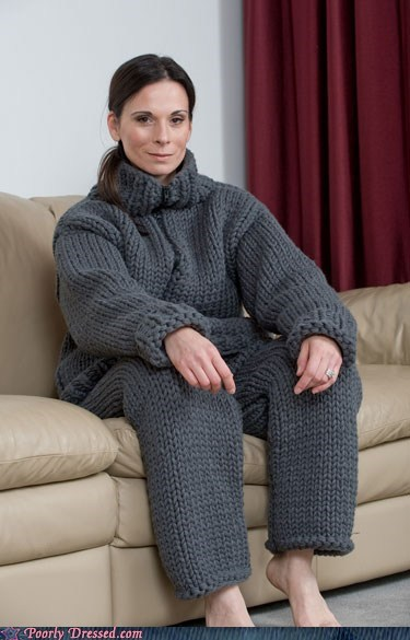 knit pajamas snuggie - 6062462720