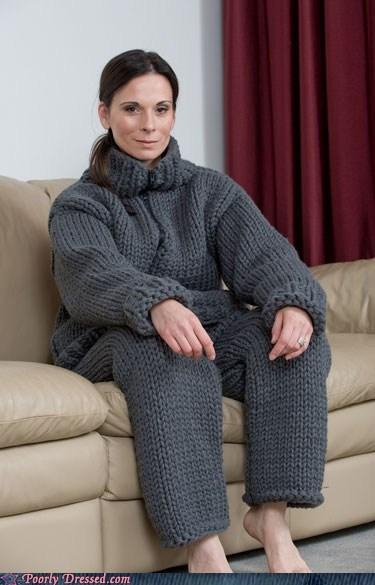 knit pajamas snuggie - 6062462720
