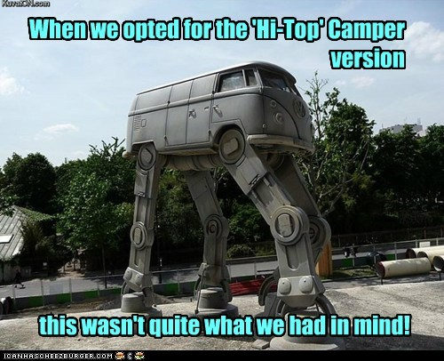 When we opted for the 'Hi-Top' Camper version this wasn't quite what we had in mind!