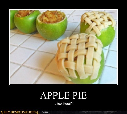apple food hilarious literal pie