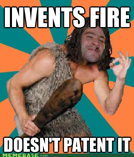 Caveman,fire,Good Guy Greg,grog,Patents