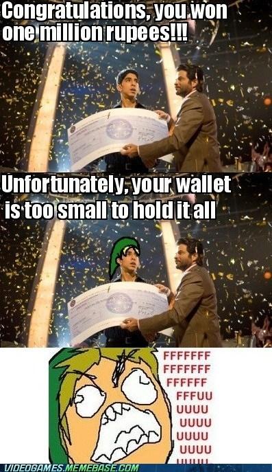 fuuuu hyrule rupees slumdog millionaire wallet zelda - 6063469568