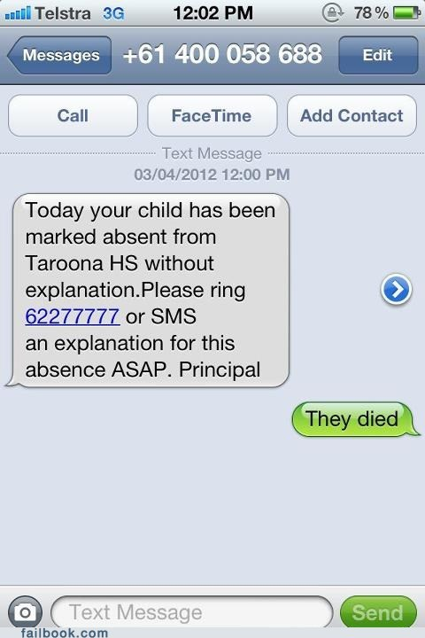 child Death died school spam texting - 6063711488