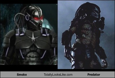 Smoke Totally Looks Like Predator