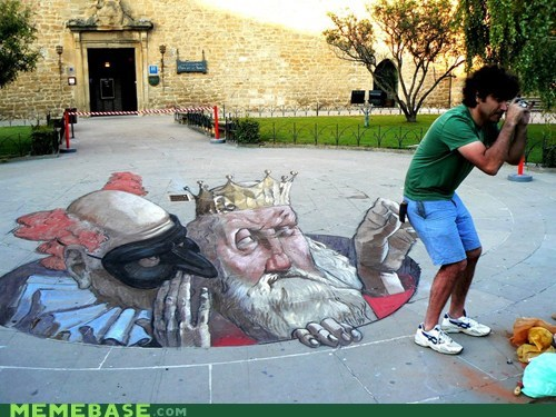 art chalk art dat wtf - 6064703488
