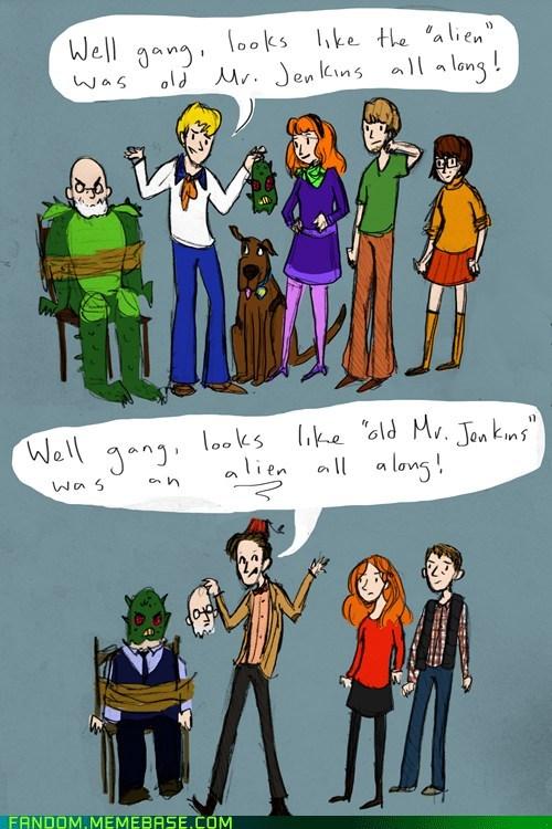 crossover doctor who Fan Art fandom scifi scooby doo - 6064712192